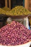 Negozio con le olive, Marocco Fotografie Stock