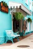 Negozio dei vestiti nella città Playa de Aro, Immagine Stock
