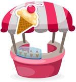 Negozio del basamento del gelato Immagini Stock