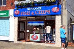 Negozio del chip & dei pesci Fotografie Stock Libere da Diritti