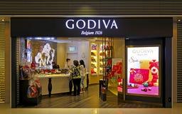 Negozio del cioccolato di Godiva immagini stock libere da diritti