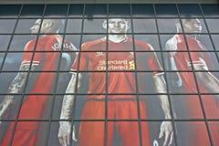 Negozio del club di calcio di Liverpool Immagine Stock Libera da Diritti