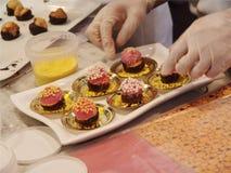 Negozio del dessert Fotografie Stock