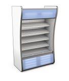 Negozio del frigorifero con la lampadina blu Fotografie Stock Libere da Diritti
