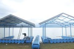 Negozio del galleggiante della struttura e del tino Fotografie Stock