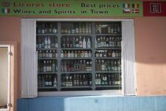 Negozio del liquore in Ibiza immagine stock libera da diritti