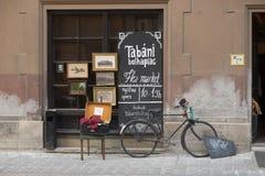 Negozio del mercato delle pulci di Budapest Fotografia Stock