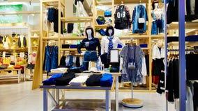 Negozio del negozio di vestiti Fotografia Stock