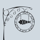 Negozio del pesce del segnale stradale Immagini Stock
