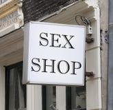 Negozio del sesso Immagini Stock Libere da Diritti