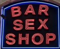 Negozio del sesso della barra fotografie stock libere da diritti