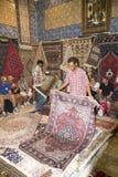 Negozio del tappeto a Tunisi Fotografia Stock