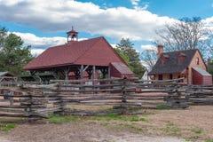 Negozio dell'aria aperta in coloniale Williamsburg immagine stock
