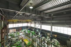 Negozio dell'Assemblea, produzione delle macchine utensili per il taglio di metalli Immagine Stock Libera da Diritti