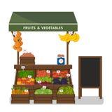 Negozio dell'azienda agricola Mercato locale della stalla Immagini Stock