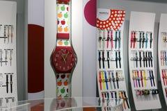 Negozio dell'orologio dei bambini nel centro commerciale di wanda Immagini Stock Libere da Diritti