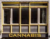Negozio della cannabis Fotografia Stock