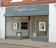 Negozio della galleria di arte di Chappell Fotografia Stock