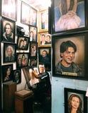 Negozio della galleria di arte immagini stock