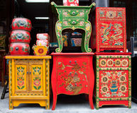 Negozio della mobilia del cinese tradizionale Immagini Stock Libere da Diritti