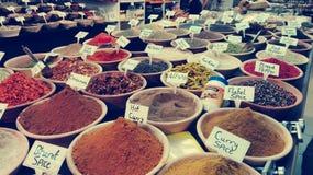 negozio della spezia nel mercato di Gerusalemme Fotografia Stock