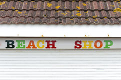 Negozio della spiaggia Fotografie Stock Libere da Diritti