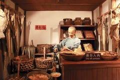 Negozio della statua di cera nel museo municipale di storia di Shanghai Fotografia Stock Libera da Diritti