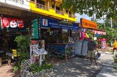 Negozio della viuzza nello stile tailandese. fotografia stock