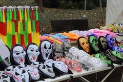 negozio delle maschere del mummer Fotografia Stock