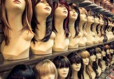 Negozio delle parrucche Fotografie Stock Libere da Diritti