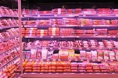 Negozio delle salsiccie Fotografia Stock Libera da Diritti