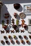 Negozio delle terraglie a Mijas nelle montagne sopra Costa del Sol in Spagna Immagini Stock