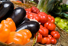 Negozio delle verdure & della frutta Fotografie Stock