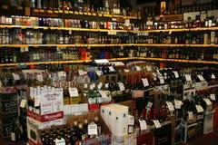 Negozio di alcolici Fotografia Stock