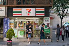 negozio di alimentari 7-Eleven Immagine Stock Libera da Diritti