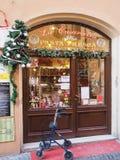 Negozio di alimentari nella città di Bevagna in Italia Fotografia Stock Libera da Diritti