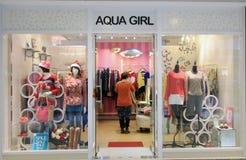 Negozio di Aqua Girl in Hong Kong fotografia stock