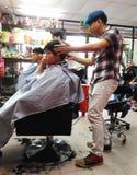 Negozio di barbiere Fotografia Stock Libera da Diritti