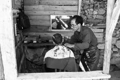 Negozio di barbiere del Yunnan Yuanyang Immagini Stock Libere da Diritti