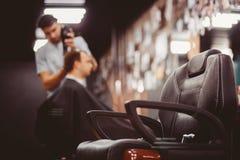 Negozio di barbiere per gli uomini fotografie stock libere da diritti