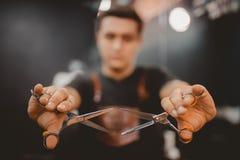Negozio di barbiere per gli uomini immagine stock