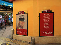 Negozio di cappello d'annata in vecchia città in Nizza, Francia Immagine Stock