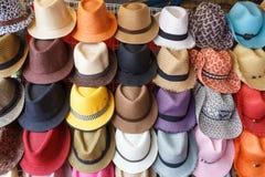 Negozio di cappello di modo Immagine Stock Libera da Diritti