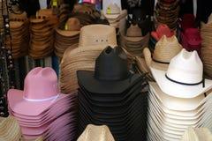 Negozio di cappello occidentale Fotografia Stock