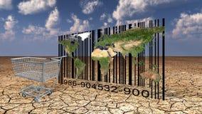 Negozio di codice a barre del mondo Fotografie Stock