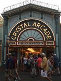 Negozio di cristallo della galleria a Disneyland, California fotografie stock