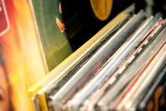 Negozio di dischi del vinile - musica immagine stock libera da diritti