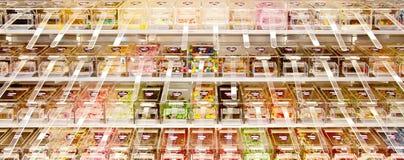Negozio di dolci, caramella in serie Fotografie Stock