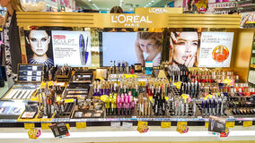 Negozio di Drogas nel centro commerciale di panorama Immagini Stock Libere da Diritti