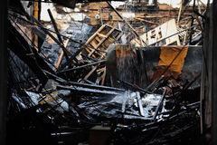 Negozio di fiore bruciato a Brooklyn NY Immagine Stock Libera da Diritti